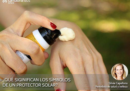Significado de los símbolos del protector solar