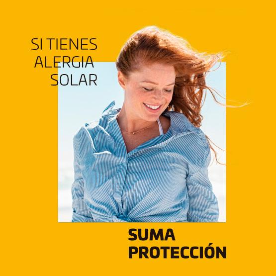 Si tienes alergia solar, suma protección