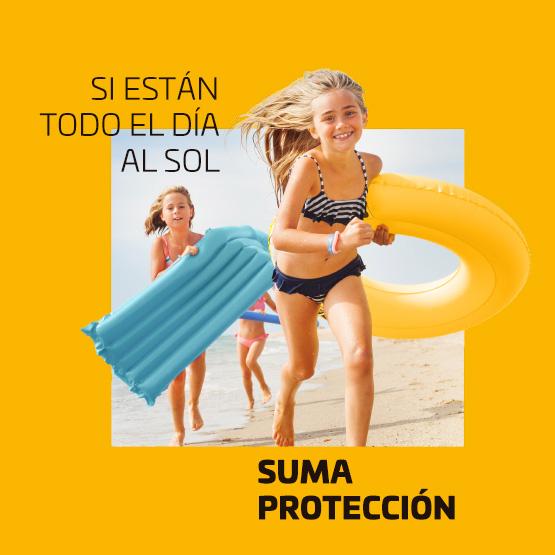 Si están todo el día al sol, suma protección