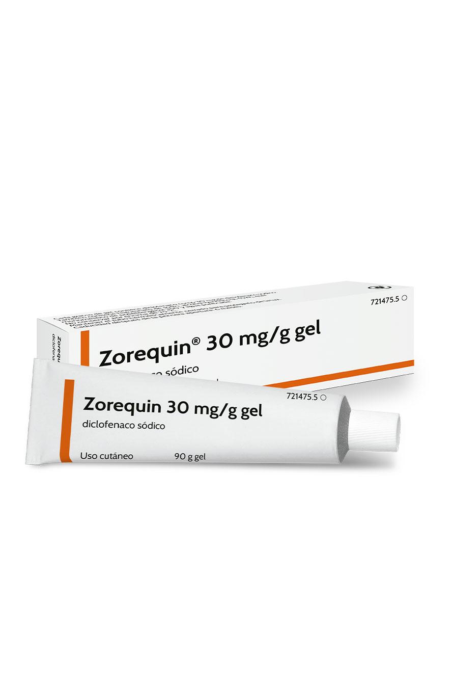 Zorequin 30 mg/g gel, diclofenaco sódico tópico